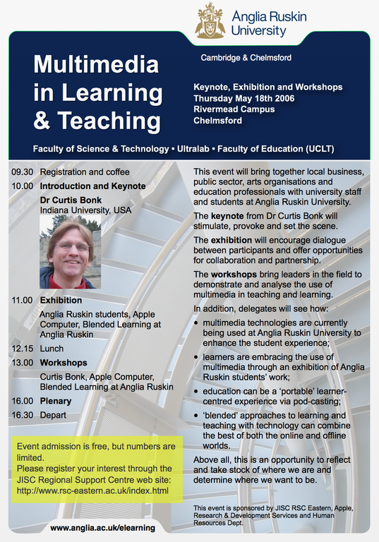 Multimedia in Teaching and Learning poster 2006